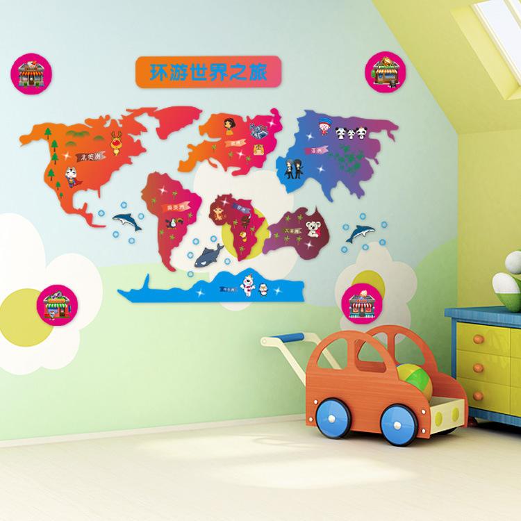 World Map Cartoon Globe Cartoon World Map Wall