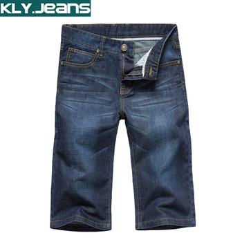 Летом-мужчин мужские прямые джинсовые капри шорты тонкий тонкий до колен капри брюки 855 607