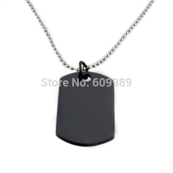 Army pendant, plain dog tag, Man stainless steel pendant, steel/ 18k gold plated/black FREE SHIPPING(China (Mainland))