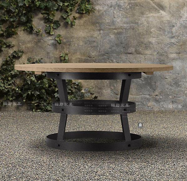 Apr s la am ricain grande table ronde table manger en - Grande table bois massif ...