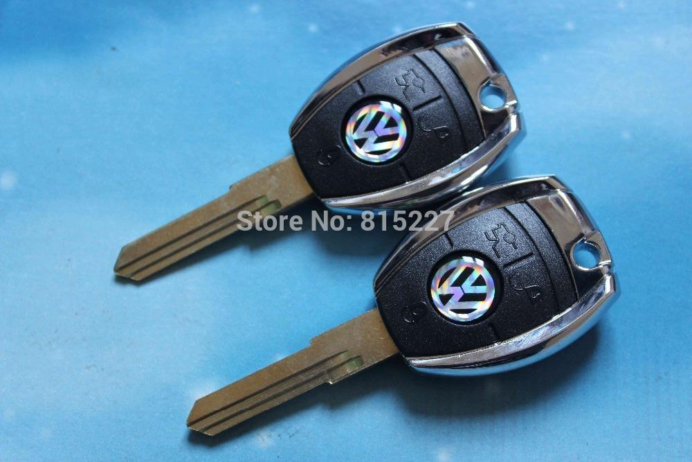 5pcs/lot High Quality VW Transponder Key Shell Volkswagen Key Blank Case + Free Shipping(China (Mainland))