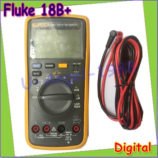 1set 100% Authentic Brand New Fluke 18B+ F18B+ Digital Multimeter DMM, 15B 17B+LED forward voltage Test(China (Mainland))
