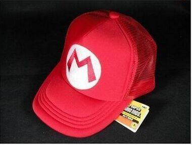 Super Mario Bros Hat cosplay for children Baseball Caps Mario Luigi Wario Waluigi Red(China (Mainland))