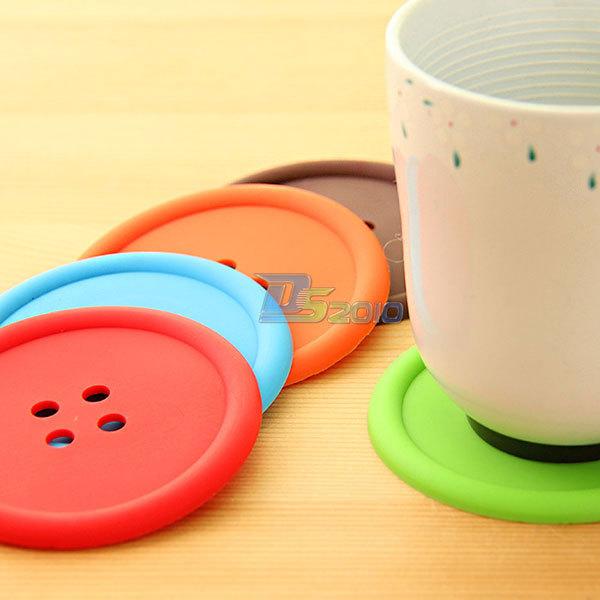 Round PU Leather Coasters Insulated Mat Drinks Coffee Tea Cup Mug 4Colors