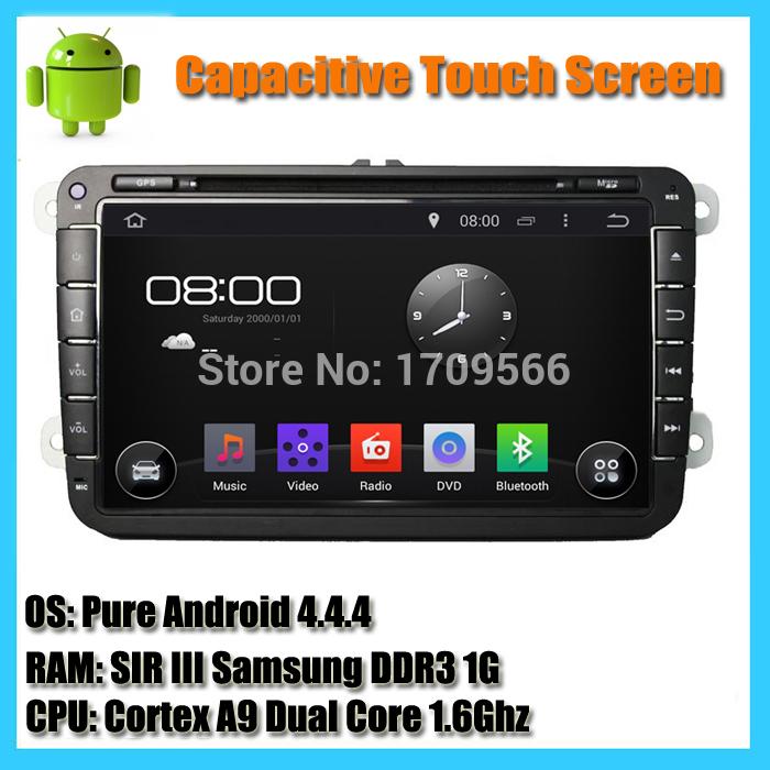 1024*600 2 Din Android 4.4 Skoda Car DVD GPS Navi 1.6G CPU SKODA OCTAVIA Fabia GOLF 6 Polo Bora JETTA MK4 PASSAT B6 Tiguan(China (Mainland))