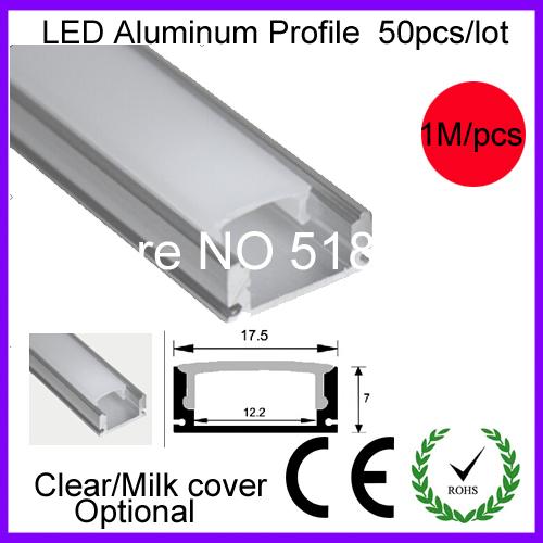 50pcs/lot Aluminum LED Profile linear led lighting Alu profile for led strips 1.0m/pc free shipping(China (Mainland))