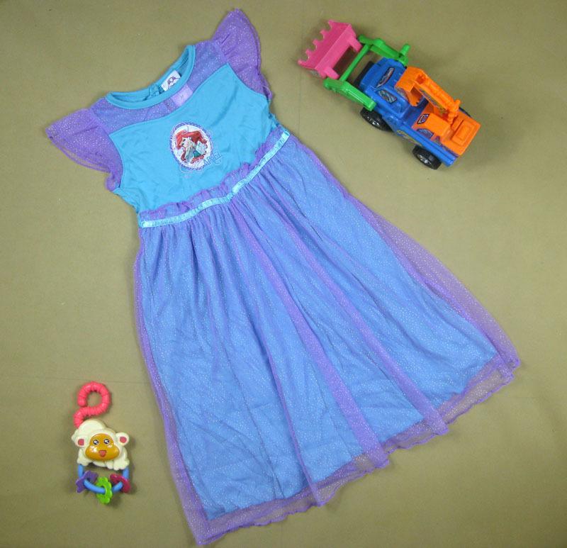 Pijama New 2015 Ariel pyjamas summer Girls Nightgown Little Mermaid Dress Short-Sleeve Sleepwear(China (Mainland))