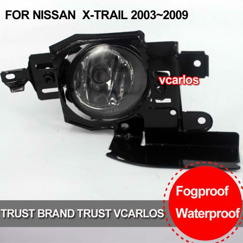 CAR FOG LIGHTS FOR NISSAN X-TRAIL 2003 2004 2005 2006 2007 2008 2009 PAIR SET + Wiring Kit(China (Mainland))