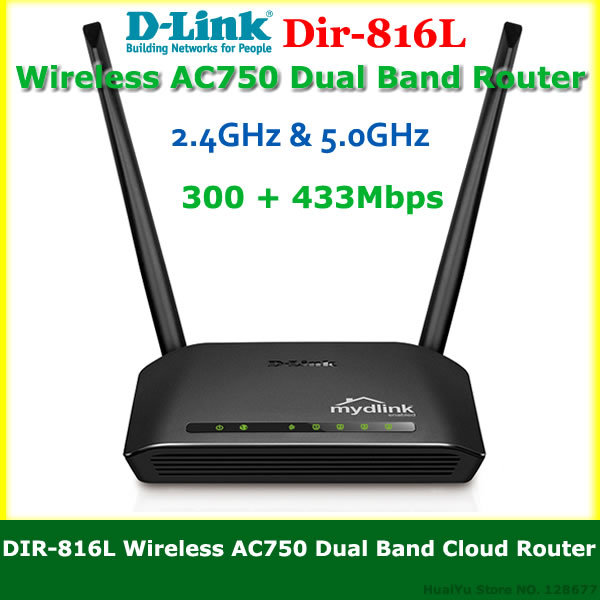 D Link DIR-816L AC750 Dual-Band Wireless Routers 2.4GHz & 5.0GHz 802.11AC 4 Lan ports 300 + 433Mbps Wi Fi Router with USB Port(China (Mainland))