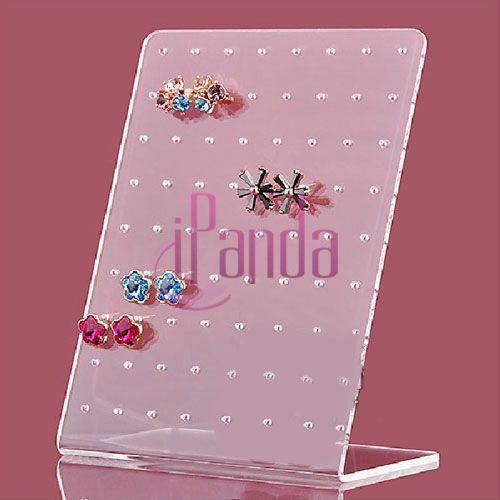 72 Holes Showcase Rack Jewelry Earring Board Holder Ear Studs Display Stand #09#46678(China (Mainland))