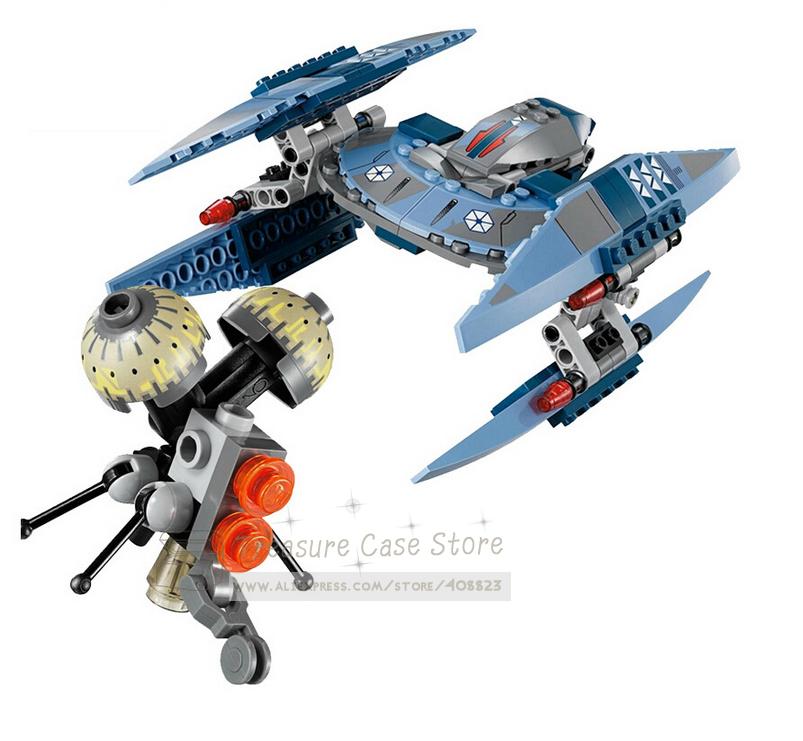 SY310 Star Wars Vulture Droid Buzz & Pilot Battle Droid Neimoidian Warrior building block set minifigure Compatible With Lego(China (Mainland))