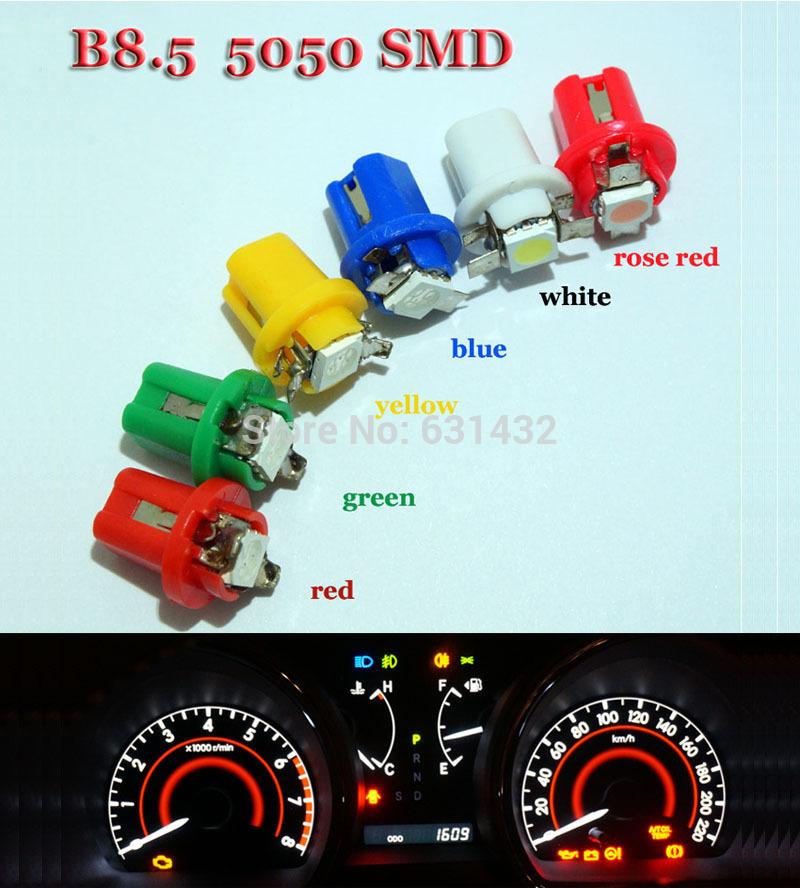10pcs T5 B8.5 509T Car Gauge 1 SMD 5050 Led Instrument Light LED Indicator Dash Side Interior Bulb, car wedge Bulbs(China (Mainland))
