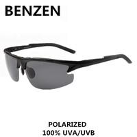 2015 Men Polarized Sunglasses Alloy Male Sun Glasses Driving Glasses Oculos De Sol Masculino with case black 9014