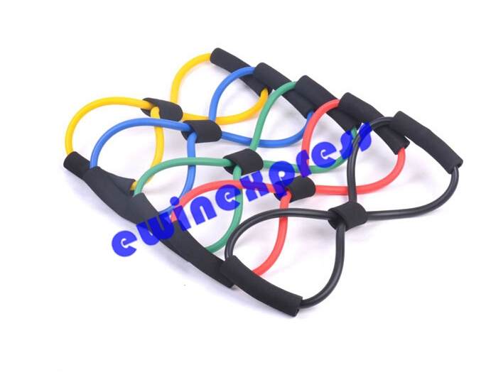 10 x Yoga Rope Pull Lines Bands Stretch Latex Fitness Exercise High Tension(China (Mainland))