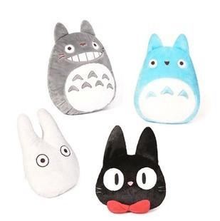 Japan Anime TOTORO Pillow Cushion Stuffed Plush Toys Cartoon White Totoro / KiKis Delivery Service Black Cat Pillows(China (Mainland))