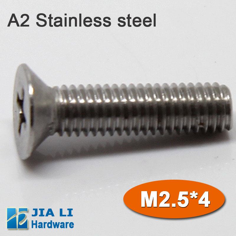 M2.5*4 stainless steel flat head micro machine screw /CSK screw(China (Mainland))