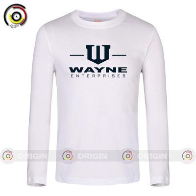 Justice League Batman Wayne enterprise logo Male Long Sleeve T-Shirt older code comfort(China (Mainland))