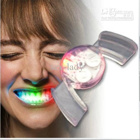 Flashing Mouth Teeth flashing LED light-emitting dental crowns dentures Funny(China (Mainland))