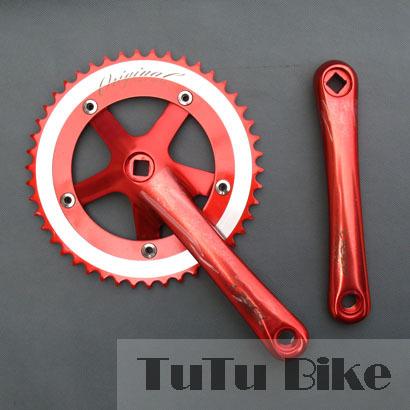 Fixed-gear bicycle crankset bicycle Aluminum CNC 48T * 170 mm Single speed bicycle crankset 6 colors(China (Mainland))