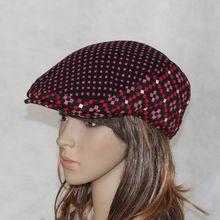 Color block decoration woolen forward cap duckbill cap beret cap fashion sunbonnet spring and autumn casual