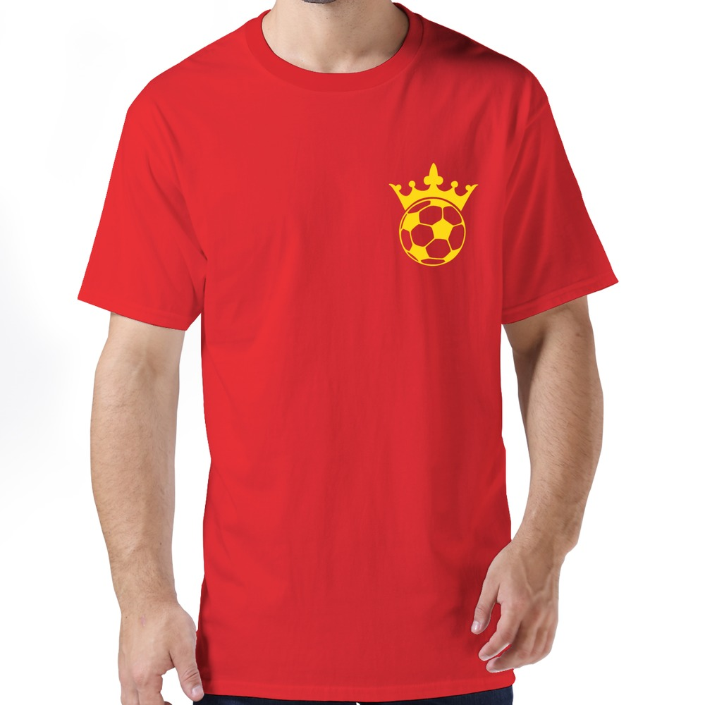 High Quality King Soccer Ball men's t shirt Free Shipping Slim Fit Pre-cotton t-shirts For men's(China (Mainland))