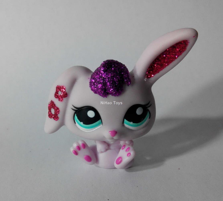 Original Rabbit glitter girl gift Cute Figure PS787 LPS Littlest Pet Shop(China (Mainland))