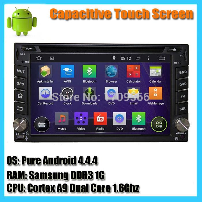 Free Shipping 2 Din Universal Android 4.4 Dual Core 1.6G Car DVD Player GPS Sat Navi Radio Headunit WIFI 3G Ipod USB BT Map(China (Mainland))
