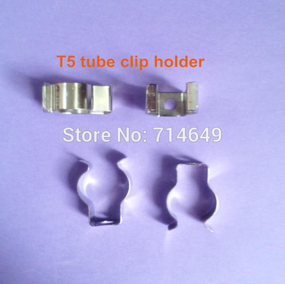 50pcs/lot T5 LED tube metal base holder T5 U clip Fluorescent lamp base clip holder T5 connector base(China (Mainland))