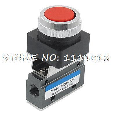 "1/8""PT 4mm Fix Hole 2 Position 3 Way Red Button Air Pneumatic Mechanical Valve(China (Mainland))"
