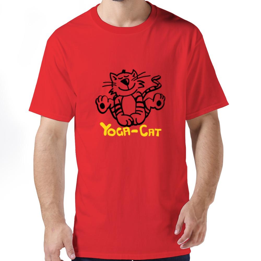 Popular Cat Yoga boys t shirt Drop Shipping Summer Short Sleeve t shirts For Men's(China (Mainland))