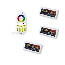 Дистанционного + 3x RGBW из светодиодов контроллер группа управление 2,4 G 4-Zone беспроводная RF касание дистанционного RGBW 5050 3528 из светодиодов полоска лёгкие