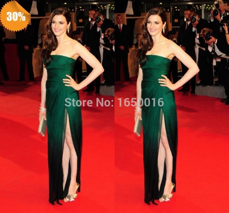 Green Long Dress Red Carpet Red Carpet Green Chiffon