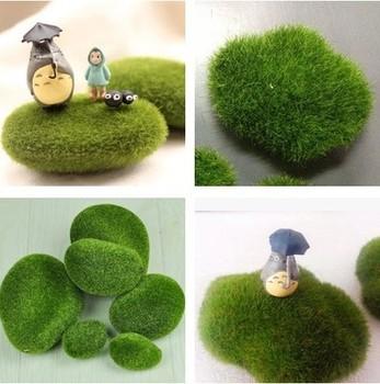 Бесплатная доставка новый дизайн правдоподобный искусственный мосс зеленый завод фея сад двор сад для украшения дома