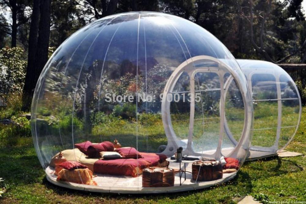 En plein air tente bulle gonflable transparente effacer tente de camping tent - Acheter tente bulle transparente ...