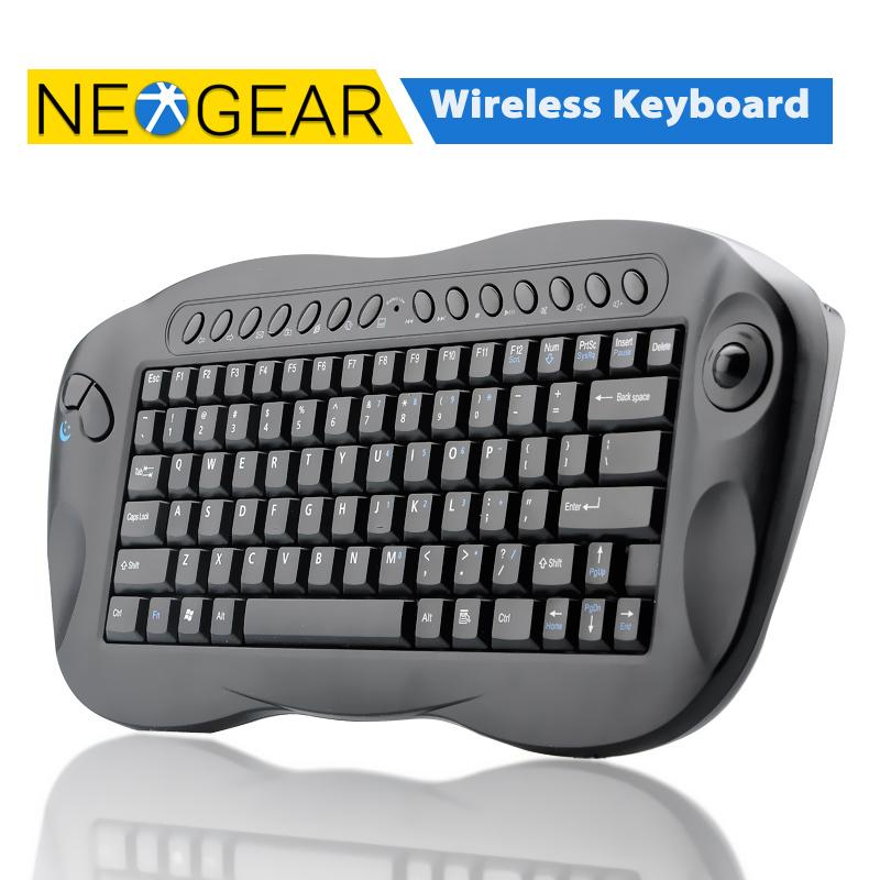 Original Wireless Keyboard With Trackball - QWERTY, Internet + Media Hotkeys, For PC and Mac(China (Mainland))