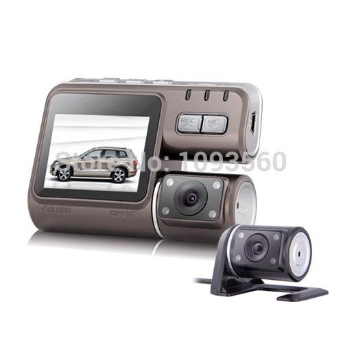 2015 New Come i1000 Car DVR Dual Camera Dual Lens Camcorder HD 1080P Dash Cam Black Box With Rear 2 Cam Vehicle View Dashboard(China (Mainland))