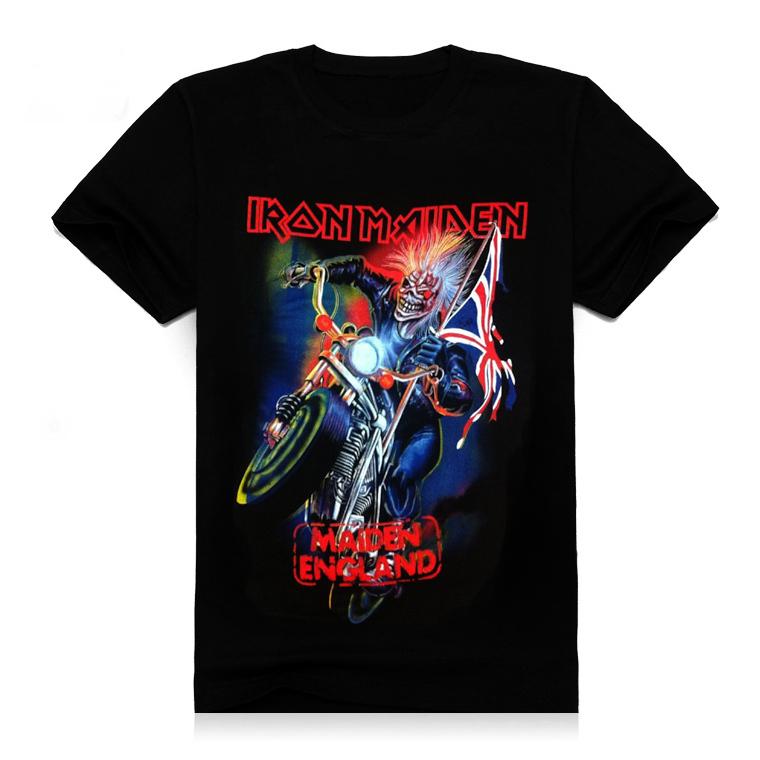 Plus Size  New Short Sleeve Mens Tshirt Clothing Full Print Motorcycle Skull Game Cool Cotton Causul T-Shirts Men's 3D T Shirt(China (Mainland))