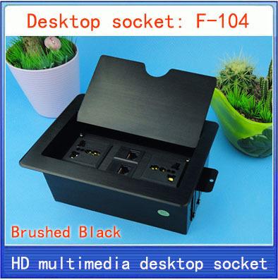 desktop socket \ Tabletop socket \ Network information socket \Flip type \ hidden \ advanced multimedia desktop socket F-104(China (Mainland))
