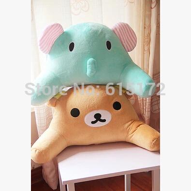 1 pc 2015 Cheap 50*25cm Kawaii Cute Cartoon Rilakkuma Pillow Cushion Sentimental Circus Elephant Plush Soft Toy For Girl(China (Mainland))