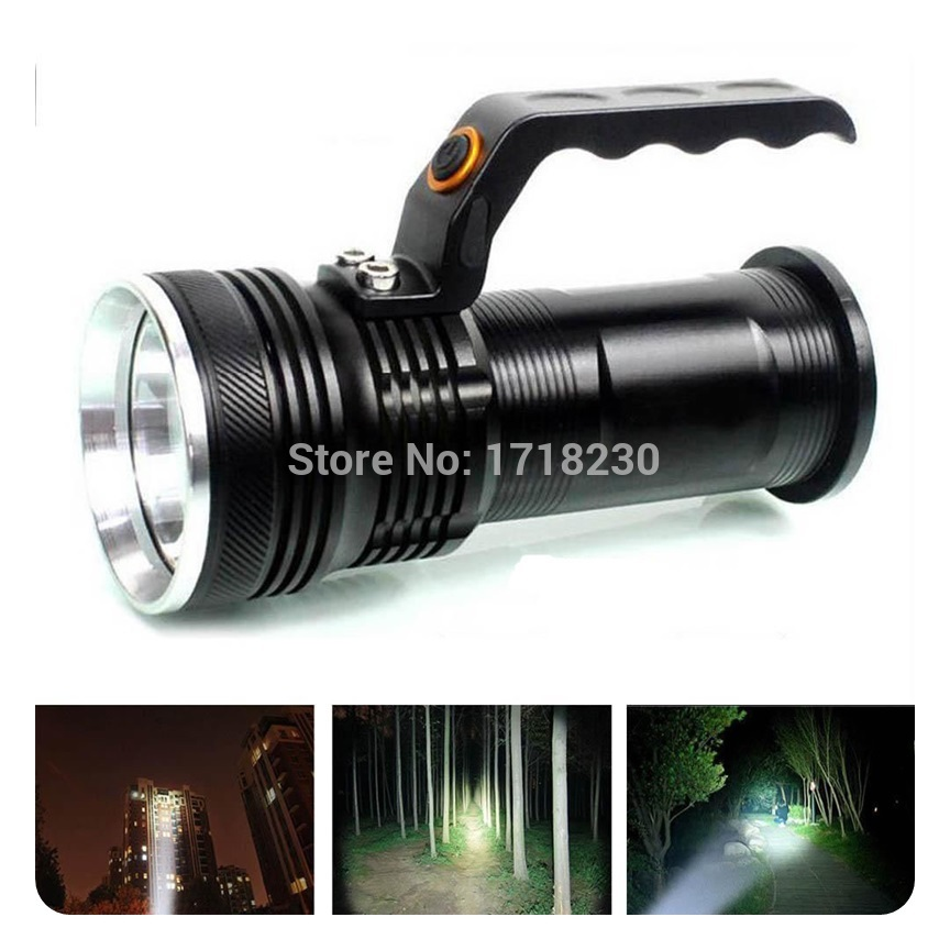 3-mode 2000LM Handheld CREE XM-L Rechargeable LED 18650 Flashlight Torch Lamp(China (Mainland))