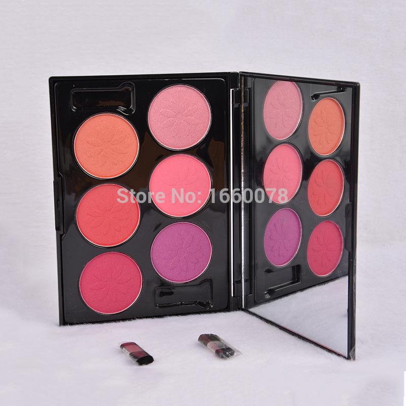 2015 high quality Korea makeup 6color /pc Touch Blush Blusher makeup corrector Blusher Powder Palette Cosmetics(China (Mainland))