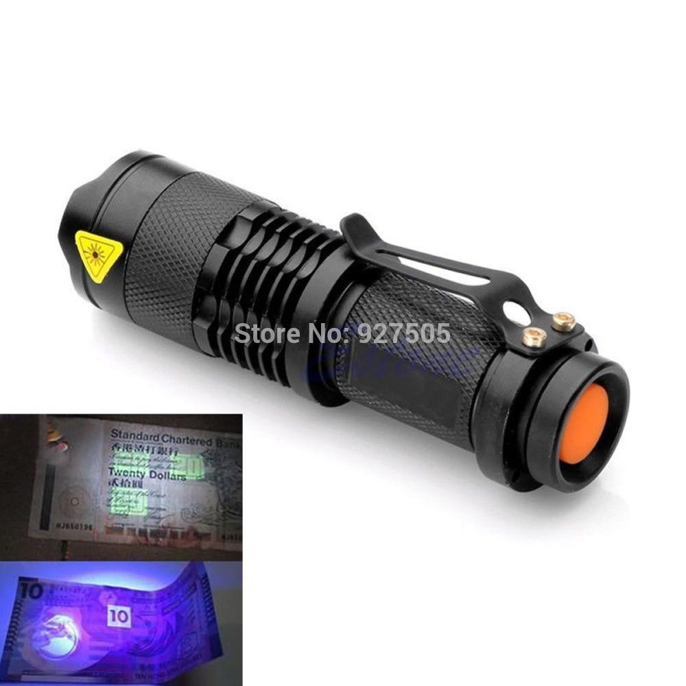 B39 2015 newest Mini Portable UV Ultra LED Flashlight Violet Purple Blacklight Torch Lamp Light free shipping(China (Mainland))