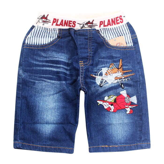 retail Boy Jeans denim Shorts Child Shorts Jeans Summer Kids Clothing Cartoon Plane Style Fashion Hot Sale Fit2-3yrs babys 637(China (Mainland))