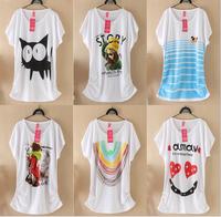 2015 New Mouse T Shirt Women T Shirts Cotton Short Sleeve Tees Women Cartoon Duck Printed T-Shirts tops Hot Shirts