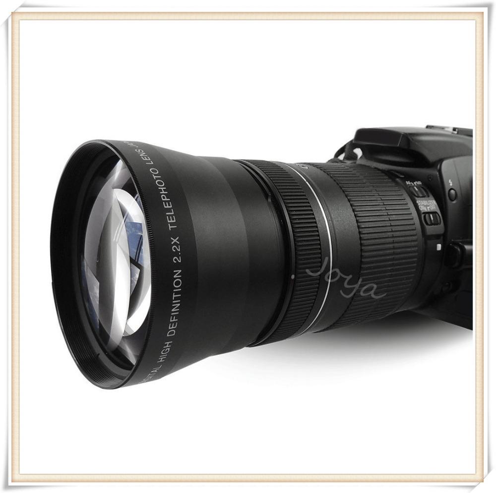 67mm 2.2x Telephoto Tele Lens for Canon EOS 550D 600D Nikon D80 D7000 LF312 teleconverter multiplier telescope endoscopic(China (Mainland))