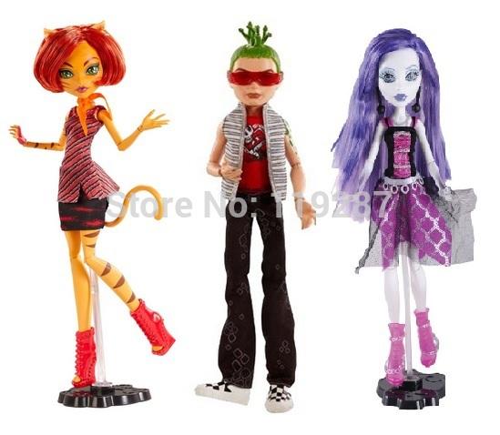 Original brand School High dolls, Ghoul's alive,Toralei ,Spectra vondergeist, Deuce Gorgon , classic toys gift for girl(China (Mainland))
