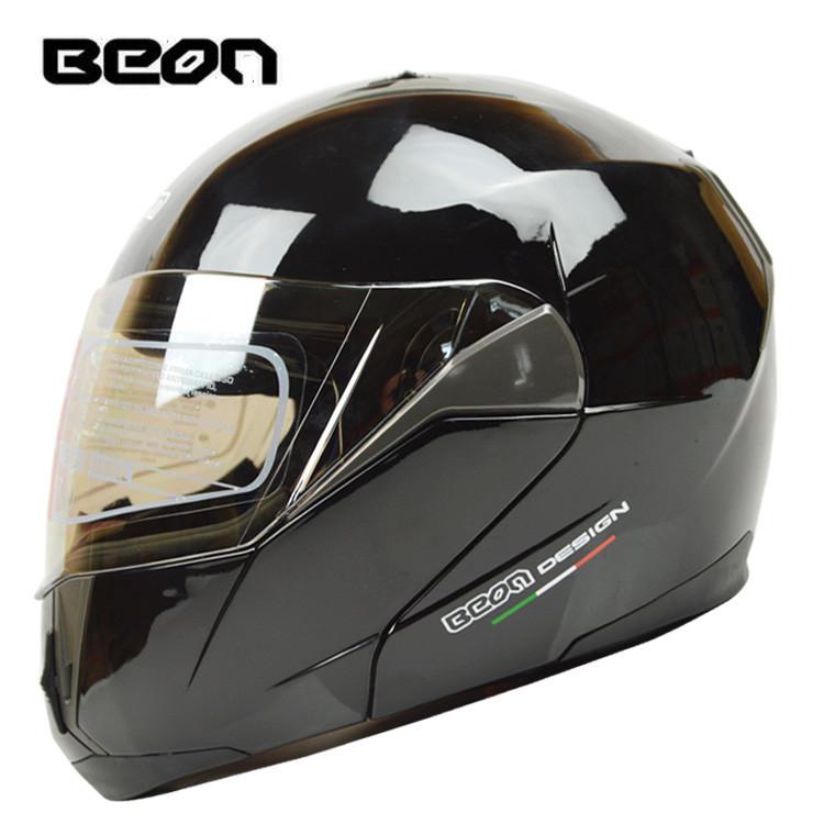 New Brand BEON Dual lens flip up Helmet Motorcycle Full Face Helmet Kart Racing Helmet motociclistas capacete ECE moto Casco(China (Mainland))