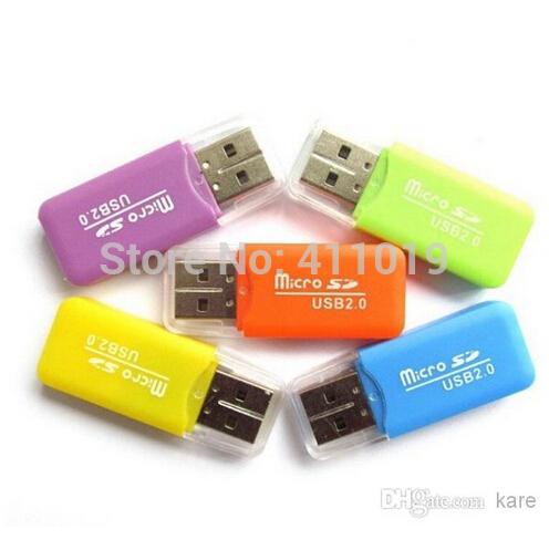 Free Shipping High Speed USB 2.0 Micro SD card T-Flash TF M2 Memory Card Reader adapter 2gb 4gb 8gb 16gb 32gb 64gb TF Card(China (Mainland))