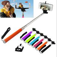 Hot Extendable Handheld Pau De Palo Selfie Universal Stick To Self Monopod For Iphone Samsung Gopro Remote Control Shutter Selfi