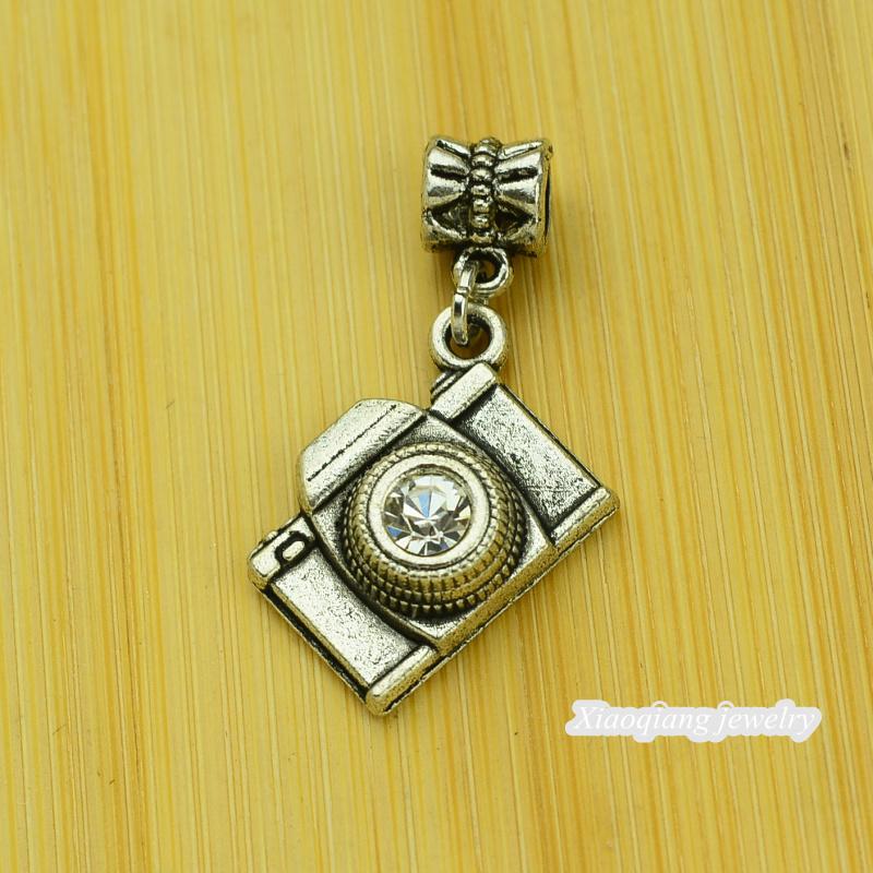 Free shipping 25pcs Camera Tibetan silver big hole pendant fit Pandora charm bracelet DIY pendant XQ0076
